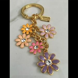 NWOT Coach Floral keychain